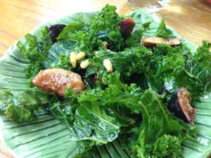 Kale and Fig Salad with Pine Nuts