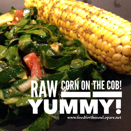 Raw Corn On The Cob