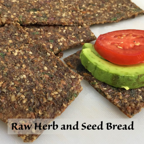 raw herb and seed bread