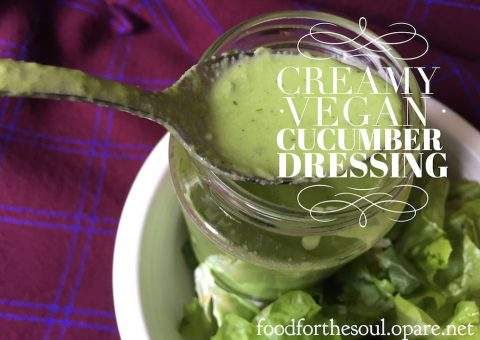 vegan cucumber salad dressing